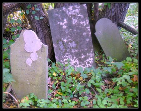 Grave stones at Tombstone cache